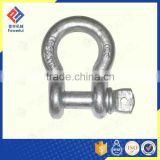 GALVANSIZED U.S. TYPE DROP FORGED CARBON STEEL SCREW PIN ANCHOR SHACKLE