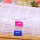 17.6cm*10.2cm*2.2cm In Stock New Plastic Mini Organizer for Jewelry Home Using Storage Boxes Portable Adjustable Jewelry Box