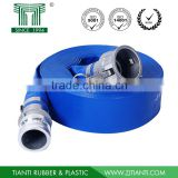 High quality pvc blue layflat hose with couplings