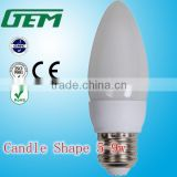 Mini CFL Bulbs 5-9W Electric Energy Saving Candle Lamp For Decoration