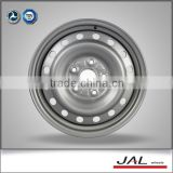 top selling silver color 15x6j wheel rim 5x114.3 steel car wheels