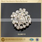 20mm square pearl and crystal rhinestone button
