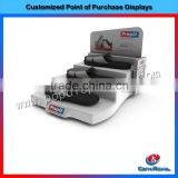 Wholesale retail store 3-tier fashion counter slipper shoe display rack
