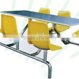 Stainless steel table six chairs