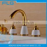 FLG0017 3 Pcs Gold Colour Finishing Faucet Basin Mixer