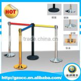 Custom factory high quality chorme metal Security Crowd Control Stanchions Queue Way Barriers Posts with one Belt