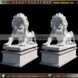 Life size marble lion statues from direct manufacture