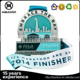 Bronze nickel stain lacquer 3d half 1/2 marathon finisher award 5k running racing metal medal medallions with ribbon