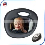 Day and Night Light Musical Auto Baby infant In-Sight Mirror in Car Safety, Grey