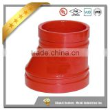 FM Approved Ductile Iron grooved Couplings and Fittings Grooved Concentric Reducer with Female Thread