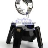 Solar Powered Rotary Display Stand 4 LED Light Rotating Solar Display Turntable For Sale
