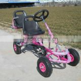Inquiry about two person pedal car,kids car pedal go kart kart,2 seat kids cheap go kart for sale