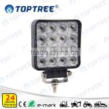 Square LED Worklight 48W Engineering Plastic Agriculturial Offroad Work Lamp