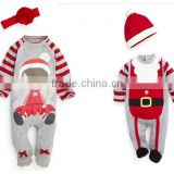 new arrival wholesale baby clothes infant boys and girls cotton rompers christmas jumpsuits