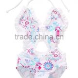 Japanese girl swimsuit one piece swimsuit floral hot selling summer girl clothes