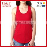 Ladies red vest tank top sports shirt colors bamboo tank top
