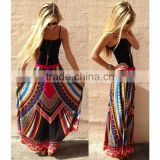 Wholesale Women Trolling Lure Cotton Multicolor Printing Indian Saree Gypsy Skirts