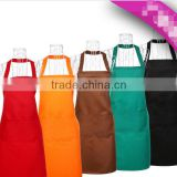 Kitchen waterproof apron custom LOGO solid color simple strap male and female Korean version of the ad printing around the waist