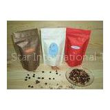 VMPET Plastic Stand Up Pouch Packaging , Block Bottom Coffee Bags