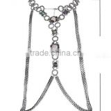 Costume Necklace Body Chain Wholesale,Designer Plated Necklace Body Chain Jewelry,Alloy Women Fashion Sexy Gem Body Chain