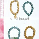 Stone bracelets of different colors with Buddha pendants, different models of jewelry
