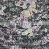 2015 new design print flower fabric, print fabric for garment, wool/viscose blend fabric