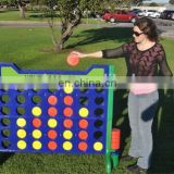 Wooden outdoor connect four game Garden 4 in a line game for adult