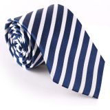 Self-fabric Silver Polyester Woven Necktie Summer Mens Suit Accessories