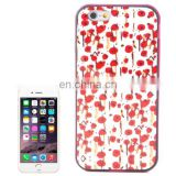 Cherry Pattern Plastic Frame TPU Back Cover Protective Case for iPhone 6 Plus