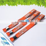 Disposable event woven music wristbands with plastic sliding lock