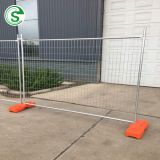 Australia temporary security site fence/outdoor cheap portable road fence/removable park fencing with plastic base