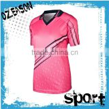 Best cricket team jersey design new model pink cricket jersey sports jersey for woman