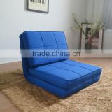 Living Room One Seat Folding Furniture Metal Frame Chair Floor Sofa Bed