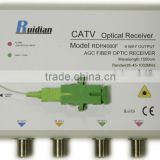 FTTH 4 Ways CATV Fiber Optic Receiver build in Filter/Fiber Optic Node/Optic ONU
