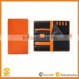 high quality orange leather Jewelry Portfolio,orange leather jewelry travel organizer,orange leather modern jewelry organizer