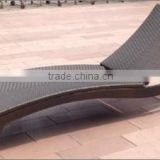 Ecological commercial furniture woven outdoor Lounge Bed