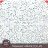Professional custom embroidery cutwork patterns machine embroidery dress designs polyester mesh fabric