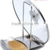 High grade healthful stainless steel lid spoon rest 001