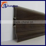 Black wood grain plastic skirting board pvc baseboard for laminate flooring