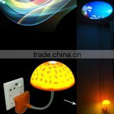 Eneygy saving mushroom projector lamp , novely mushroom lamp decorative to hotel and bar