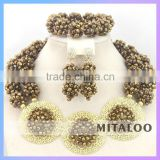 Mitaloo Oem Factory Direct Sale African Jewelry Set Nigeria Jewelry Necklace Sets MT0002