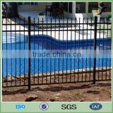 Powder coated welded tube spear top wrought iron fence
