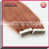 cheap Brazilian virgin hair wholesale Tape in hair extensions pu skin weft