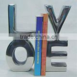 Cast Aluminum Decorative Love bookend , Table top, Desktop for Home, Hotel, Restaurant, Office Decoration