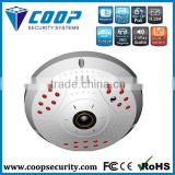 Home Security 360 degree Fisheyes Panoramic Camera WDR 1.3mp PTZ IP Camera