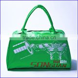 Made in China custom large volume sport gym bag with shoe compartment