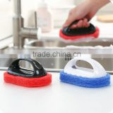 Strong decontamination plastic handle kitchen cleaning sponge Cleaning brush bath brush