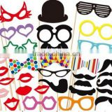 New Year Funny Photo Booth Props Hat Mustache On A Stick Wedding Birthday Party Favor Crazy Parties Accessories                                                                         Quality Choice