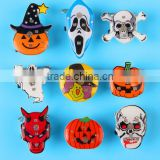 Halloween decorations Flash LED luminous brooch Creative ghost kito Pumpkin Lantern Crosses Allhallow bar party props supplies