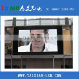 Outdoor waterproof Iron Cabinet Full Color P10 LED Display fixed installation outdoor advertising billboard